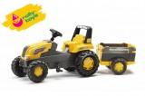 Rolly Toys Šlapací traktor Rolly Junior s Farm vlečkou - žlutý