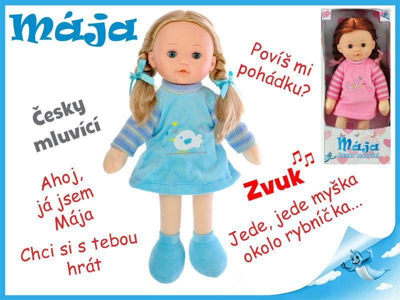 Mikro Trading Mrkací panenka Mája 42cm mluvící růžová