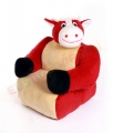 Dětská sedačka plyšová - křesílko Kravička HAMIRO
