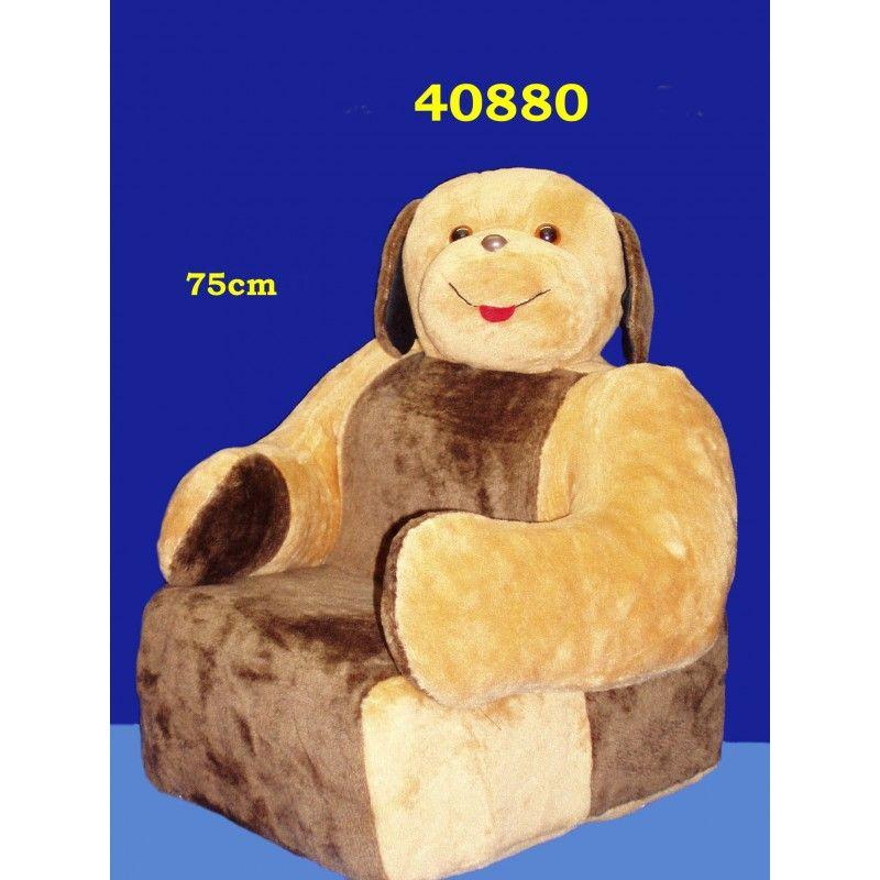 Dětská sedačka plyšová - křesílko Pes HAMIRO