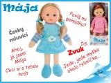 Mikro Trading Mrkací panenka Mája 42cm mluvící modrá