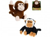 Mikro Trading Opice veselá 22cm na baterie se zvukem hnědá, dělá kotrmelce