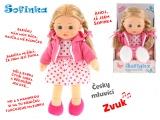 Mikro Trading Panenka Sofinka 31cm mrkací měkké tělo na baterie česky mluvící v krabičce blondýna