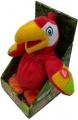 Mikro Trading Papoušek plyšový chodící a opakující slova 20cm na baterie Cobi