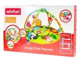 Mikro Trading Podložka hrací měkká se zvířátky 0m+ v krabičce Win Fun