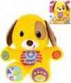 Mikro Trading Puppy naučný pejsek 33cm česky mluvící na baterie se světlem a zvukem 6m+ v krabičce
