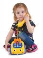 Mikro Trading Telefonek 16cm naučný žluto-modrý 2funkce na baterie se světlem a zvukem 12m+ v krabič