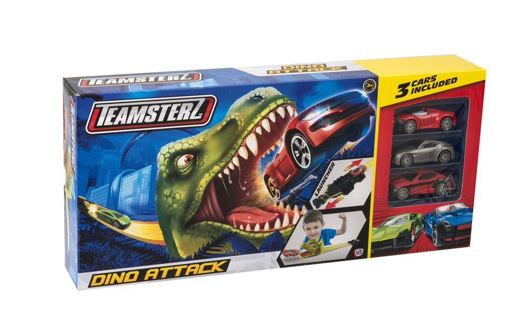 Alltoys Halsall Teamsterz dráha dinosaurus + 3 autíčka All Toys