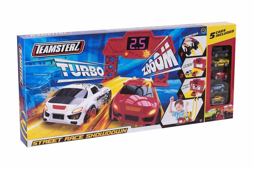 Alltoys Halsall Teamsterz Street závodní dráha s 5 autíčky All Toys