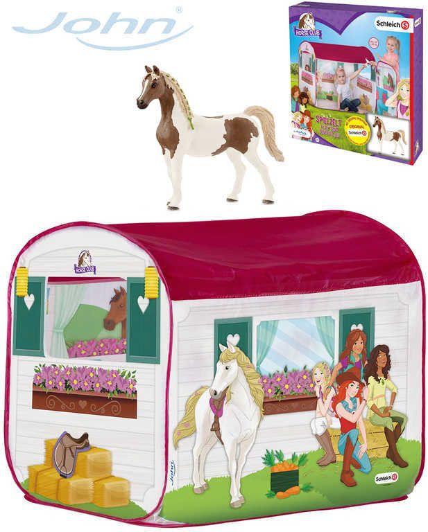John Stan domeček koňská stáj 100 x 70 x 80 cm set s figurkou koníka