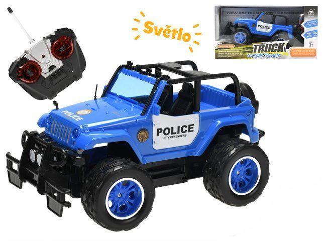 Mikro Trading R/C auto policie terénní 24cm 27MHz plná funkce na baterie se světlem 2barvy v krabičce