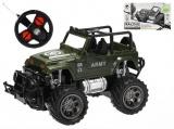 Mikro Trading R/C auto vojenské terénní 1:24 17cm 27MHz plná funkce na baterie 2barvy v krabičce
