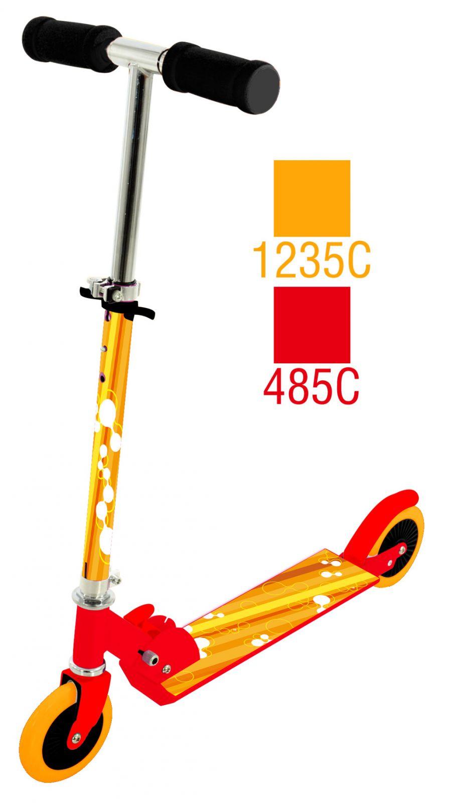 Dětská koloběžka skládací Scooter 5 oranžová All Toys