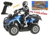 Mikro Trading R/C ATV čtyřkolka s jezdcem 23cm na dálkové ovládání