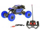 Mikro Trading R/C auto terénní 27 cm 49Mhz na dobíjecí baterii plná funkce v krabičce modrá