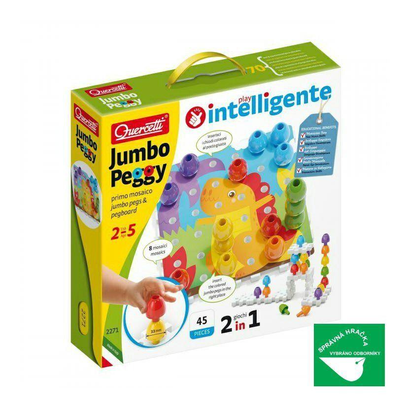 Quercetti Jumbo Peggy jumbo pegs & pegboard – mozaika s velkými kolíčky