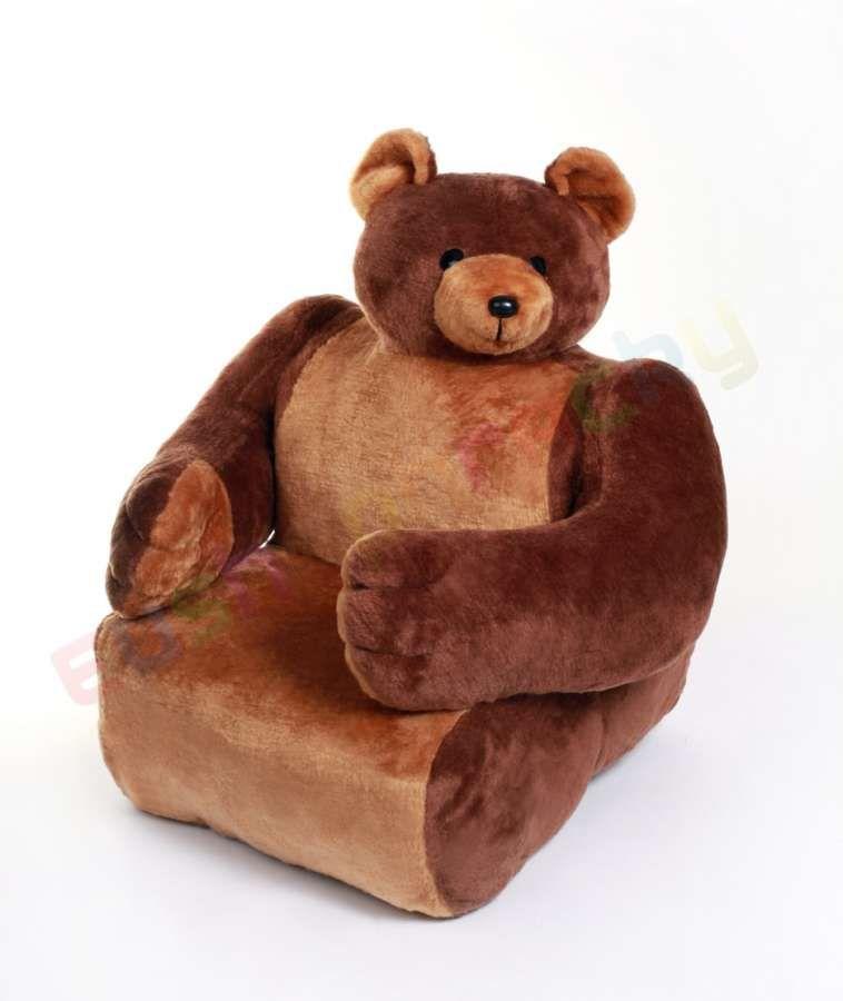 Dětská sedačka plyšová - křesílko Medvěd HAMIRO