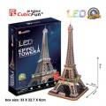 3D Puzzle Eiffelova věž svítící LED - Eiffel Tower - 82 dílků