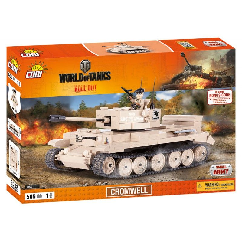 Cobi 3002 World of Tanks Cromwell 505 k, 1 f