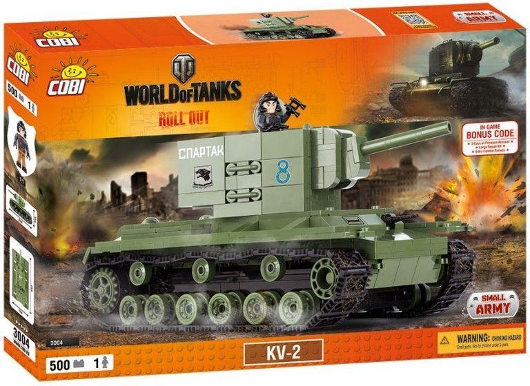 Cobi 3004 World of Tanks KV-2, 500 k, 1 f