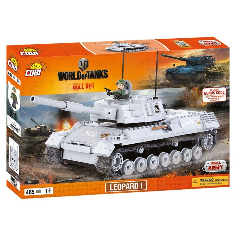 Cobi 3009 World of Tanks Leopard 1, 470 k, 1 f