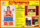 Dřevěná čtyřkombinace - divadlo, pošta, obchod a tabulka 4v1 Jaroš Tlumačov