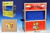 Dřevěná čtyřkombinace - divadlo, pošta, obchod a tabulka 4v1