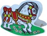 Houpací koník dřevěný - houpadlo kůň