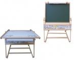 Tabule dřevěná MAGNETICKÁ  a stolek 2v1
