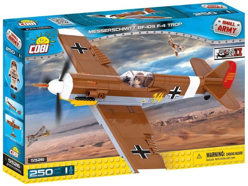 Cobi 5526 SMALL ARMY - Messerschmitt Bf-109 F-4 Trop, 250 k, 1 f
