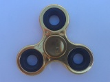 Fidget Spinner METALICKÝ lesklý 7,6 cm ZLATÝ