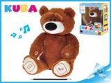 Mikro Trading KUBA medvídek plyšový 35cm naučný na baterie v krabičce