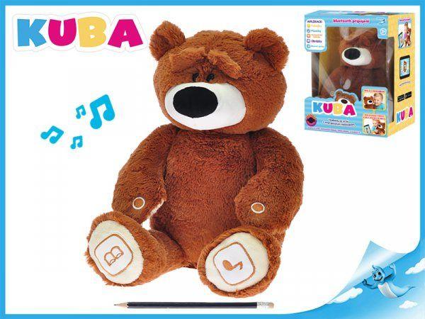 Mikro Trading KUBA medvídek plyšový 35cm naučný na baterie v krabičce Cobi