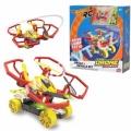 Hot Wheels Quad Racerz auto a dron 7,6 cm race & fly 2,4GHz na baterie s USB připojením