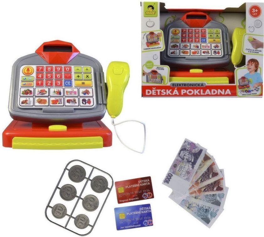 MaDe Elektronická dětská pokladna na baterie český design