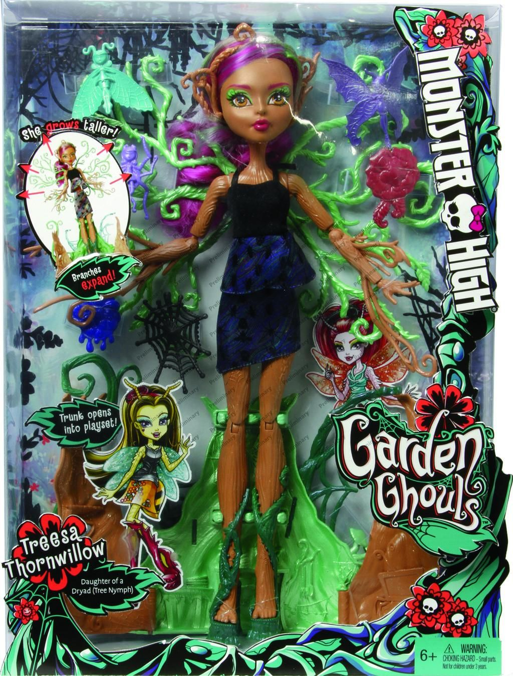 Mattel panenka Monster High Treesa Willow 38 cm - Straškouzelná Treesa