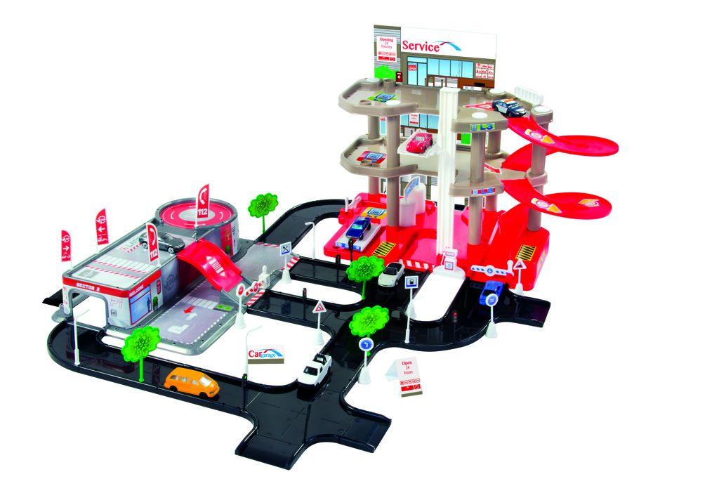 Mochtoys Garáže 3 patra + servis hrací sada All Toys