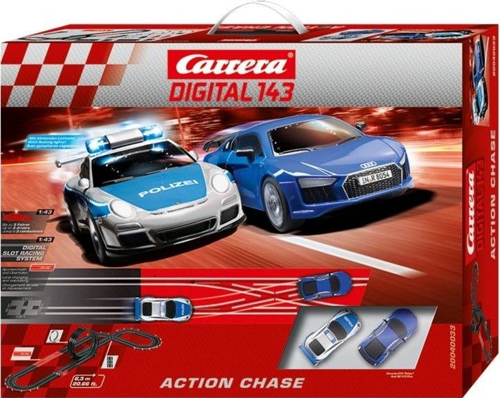 Autodráha Carrera Digital Action Chase Závodní dráha 40033