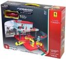 Bburago servisní středisko Ferrari Auto Service Centre + 1 autíčko