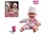MaDe Panenka Adélka miminko s prvními zoubky a kartáčkem, 40cm
